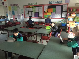 The plains - students are spread out and working independently without distraction